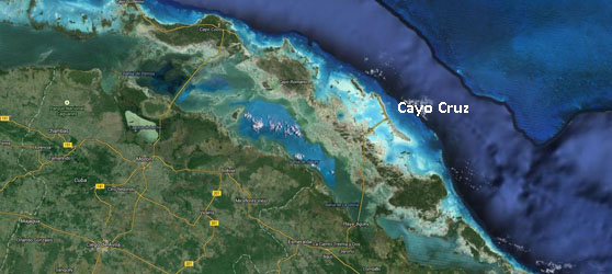 Map of Cayo Cruz, link to details